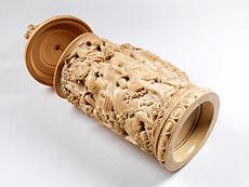 Detailabbildung: Seltener, großer Prachthumpen in Elfenbein