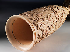 Detail images: Bedeutender großer Elfenbeinprunkpokal