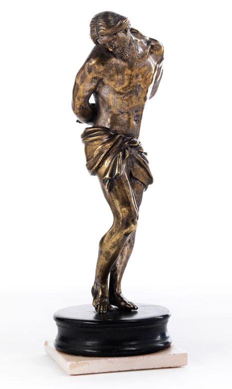 Bronzefigur eines Geißelungschristus