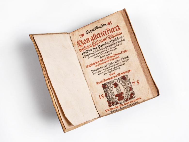 Holzschnitt-Buch von 1575