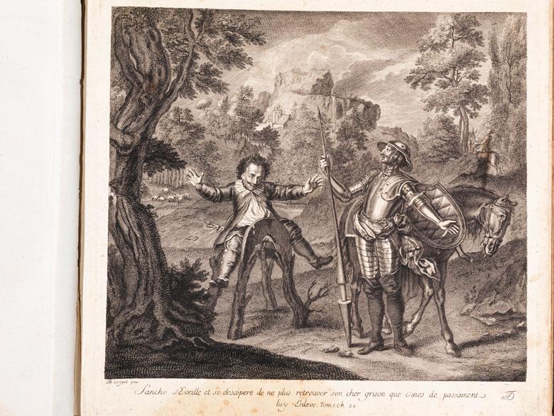 Don Quixote in großen Kupfern