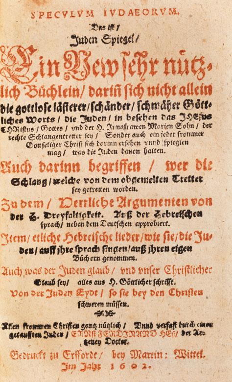 Judenspiegel von 1602