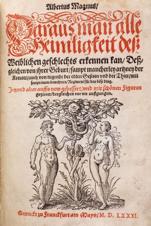 Holzschnitte von Pflanzen, Tieren, den 12 Monaten etc. Albertus Magnus