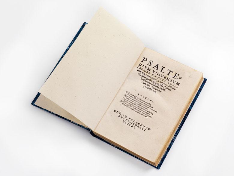 Psalter in humanistischer Versübersetzung, um 1538