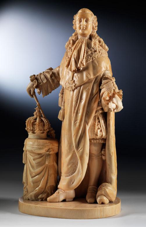 Elfenbeinschnitzfigur Ludwig XVI.