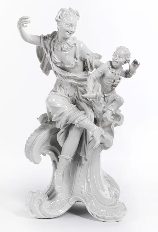 Meissener Porzellan-Figurengruppe im Rokoko-Stil