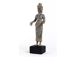 Weibliche Götterfigur der Khmer