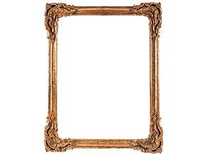 Großer vergoldeter Rahmen mit Rocailledekor