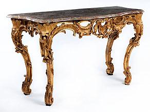 Eindrucksvolle Louis XV-Konsole
