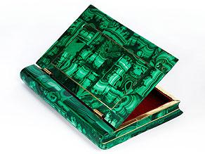 Russische Schatulle in Form eines Buches