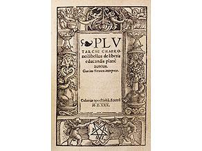 Pädagogik 1530 mit schöner Holzschnitt-Bordüre