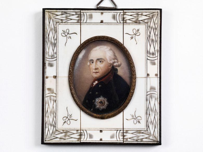Miniaturportrait Friedrich der Große