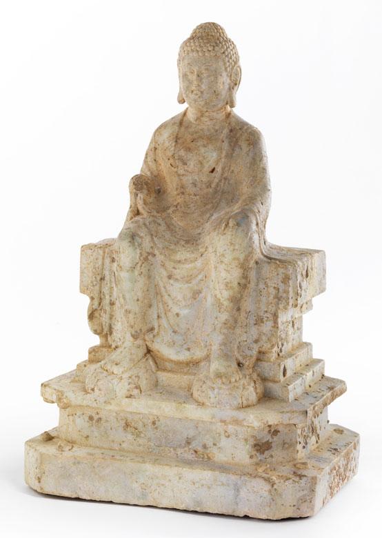 Thronende Buddhafigur