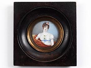 Miniaturportrait im Rund