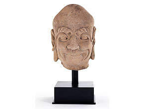 Sandsteinkopf eines Lohan
