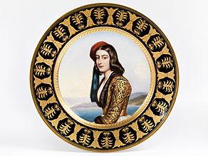 Nymphenburger Porzellanteller mit Portaitbildnis
