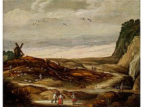 Detail images:  Joos de Momper d.J., 1564 Antwerpen - 1635, zug.