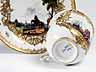 Detail images: Meissener Porzellantasse mit Untertasse