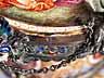 Detail images: Große Wiener Emailvase mit Bergkristallsockel