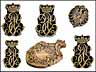 Detail images: †Bedeutende Wappen europäischer Könige und Adeliger - 112 Stempel aus der Sammlung des königlichen Buchbinders