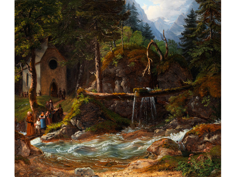 Gustav Reinhold, 1798 - 1849 Königssee/ Berchtesgaden