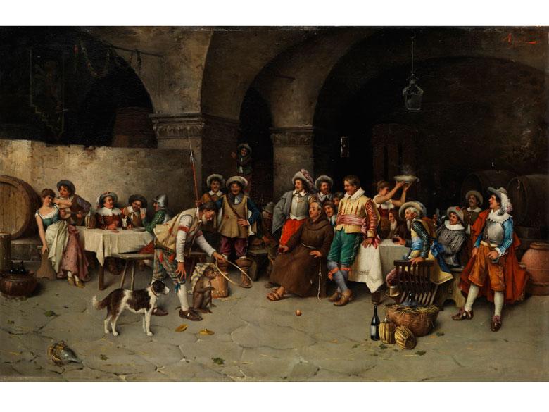 Cop Agresti, italienischer Maler des 19./ 20. Jahrhunderts