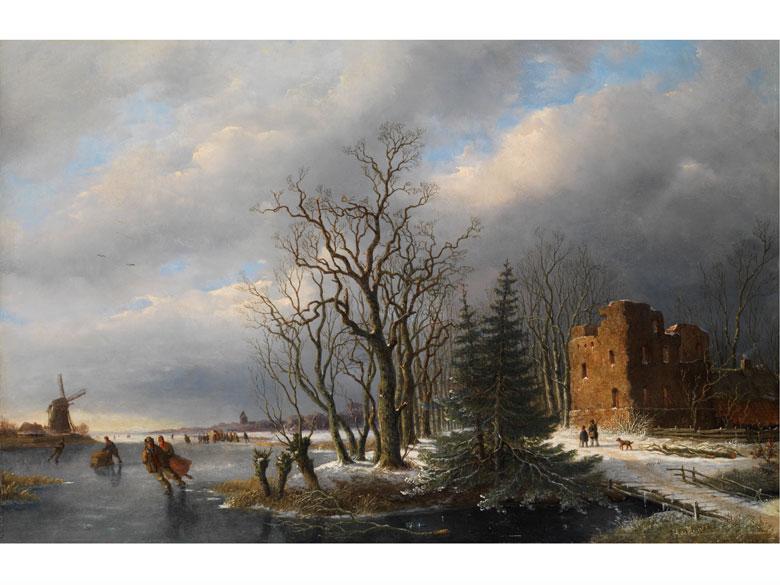 H. de Mejier, Maler des 19. Jahrhunderts