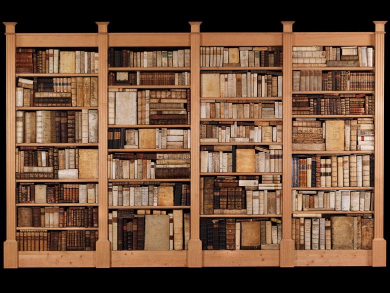 Dekorative Bibliothek mit 603 Bänden
