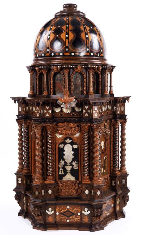 Seltener, großer Tempietto-Tabernakel