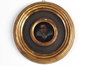 Miniaturbildnis mit Darstellung einer holländischen Dame