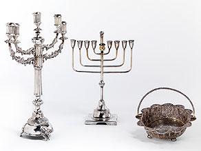 Drei Judaika-Silberobjekte