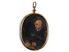 Miniaturbildnis eines Jesuitenheiligen (Franz Xaverius?)