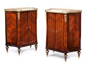 Feines Paar Halbschränke im Louis XVI-Stil, Paul Sormani (1817 - 1877), zug.