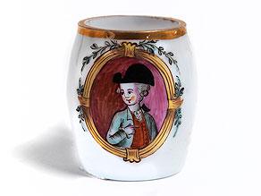 Kleines Glas-Krüglein in Milchglas