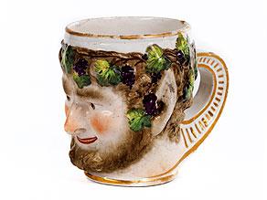 Russischer Porzellan-Henkelbecher