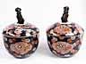Detail images: Paar große, japanische Deckelgefäße