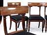 Detail images: Satz von sechs englischen Mahagoni-Stühlen