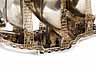 Detail images: Monumentaler, silberner Tafelaufsatz mit Bekrönung in Form eines Segelschiffes