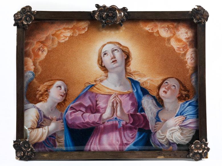 Miniaturgemälde mit Darstellung der Aufnahme Mariens in den Himmel