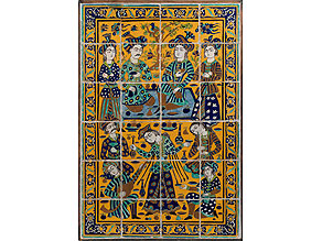 Großes, persisches Fliesenbild