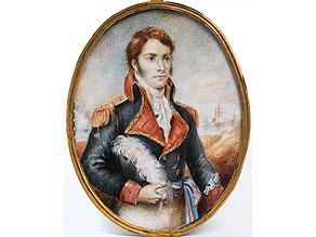 Portaitminiatur des Admiral Nelson
