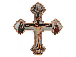 Bedeutendes sizilianisches Kreuz des ausgehenden 15. Jahrhunderts, Pietro Ruzzolone, um 1484 - 1522 in Palermo tätig, zug.
