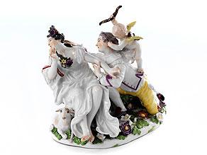 """Meissener Figurengruppe """"Der stürmische Liebhaber"""""""