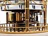Detail images: Große, französische Cercle-Tournant-Tischuhr in vergoldeter Bronze und weißem Alabaster