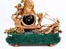 Detail images: Französische Prunkpendule in Malachit und feuervergoldeter Bronze
