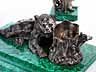 Detail images: Großes, neunteiliges Schreibzeugset, dem Thema des russischen Bären gewidmet