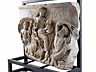 Detail images: Relief nach dem Vorbild des Tellusreliefs von der Ara Pacis in Rom, dem Friedensaltar des Kaisers Augustus, der im Jahre 9 v. Chr. eingeweiht wurde