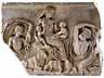 Detailabbildung: Relief nach dem Vorbild des Tellusreliefs von der Ara Pacis in Rom, dem Friedensaltar des Kaisers Augustus, der im Jahre 9 v. Chr. eingeweiht wurde
