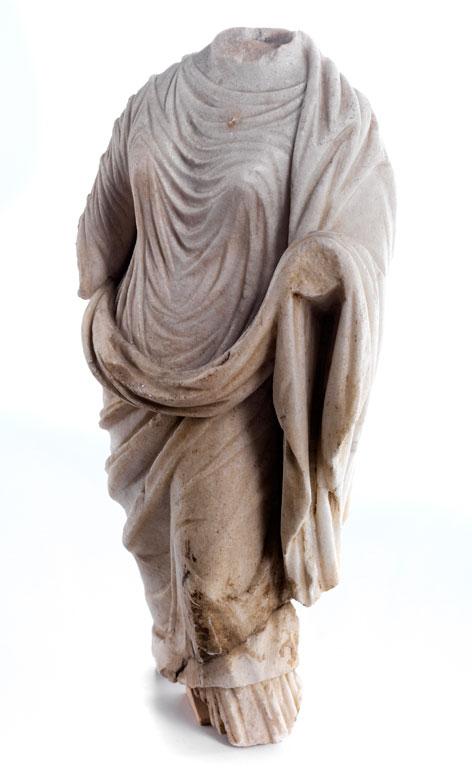Marmor-Gewandfigur