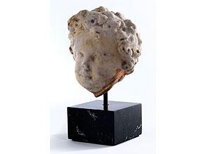 Marmorkopf eines Knaben